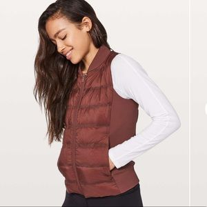 Lululemon down and around puffer vest size 10
